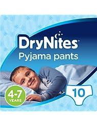 Huggies DryNites Pyjama Pants for Boys, Age 4-7 - 10 Pants Total