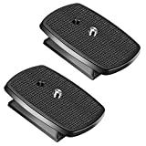 Neewer 2 Stück Schwarz Schnellkupplungsplatte Stativkopf mit Anti-rutsch Gummi-Pads für Neewer SAB264 und SAB234 Stative, aus ABS-Kunststoff