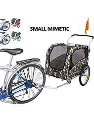Polironeshop Snoopy - Remorque de vélo pour transporter chien, animal, etc., Mimétique, M