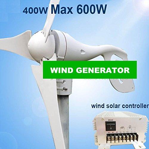 Gowe Max Power 600W klein Wind Generator + 650W Wind Solar Hybrid Controller (600 Watt-solar-generator)