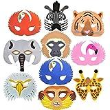 Rainforest 10 Safari/Dschungel-Tier Schaumstoff-Masken, mit Erdmännchen! Hergestellt von Blue Frog Toys