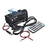 Dooret Amplificatore per auto Bluetooth 220V Amplificatore Hi-Fi Bass per auto Auto Audio TF Player USB Subwoofer a bassa distorsione