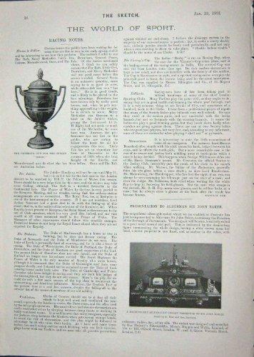 MAGGIE INDIANO 1901 DI JOHN BARKER DI DERBY DELLA TAZZA DEL VICERÉ SNODON