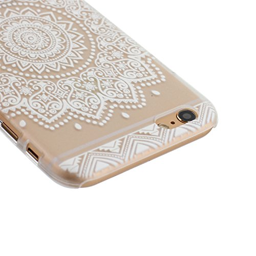 ARTLU® Henna Million Spent Ethnic Tribal Plastik Schutzhülle Case Cover Schale Fall Tasche Hülle für Apple iPhone 6/6S Hülle Handytasche HandyHülle Etui Schale M2 B8