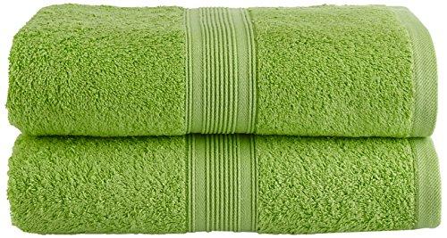 NatureMark NM-HT0803 Frottier Saunatuch Doppelpack, 80 x 200 cm, 100{ac2c25402d7083bc2b6e99e4607f08e3f4657922ef0dcae7f9411a538b60623a} Baumwolle, Apfel grün