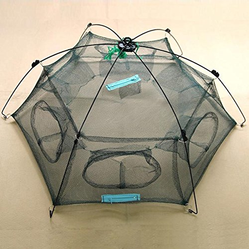 New Folded 80x80cm Floding Crab fish Minnow Fishing Trap Cast Net