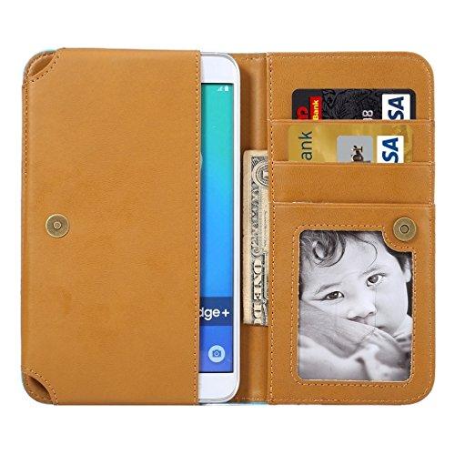 Wkae Case Cover Mappen-Art-Horizontal Flip-Ledertasche mit Foto-Rahmen und Karten-Slots und Brieftasche &Lanyard für Samsung Galaxy S7 Rand / iPhone 6 Plus &6s Plus / Huawei Mate-8 ( Color : Magenta ) Magenta
