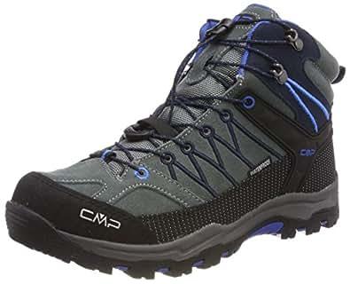 CMP Rigel Mid WP, Chaussures de Randonnée Hautes Mixte Adulte, Turquoise (Artico-Chili), 28 EU