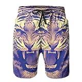 Photo de Fashion New Quick Dry Swimming Beach Shorts Trippy Tiger Radical Tiger Men ER Beach Boardshorts par KAKALINQ