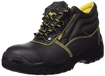 Wolfpack Bottes de sécurité en cuir Noir Taille 43