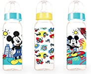 Disney Baby Mickey Mouse Feeding Bottle Set, 0+ Months, 9 oz, 260 ml (Pack of 3)