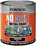 Ronseal NRHABL250 250ml No Rust Metal Paint - Hammer Black