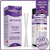 MediVinius 100x Ketostix für sofortige Ketose Messergebnisse I Keton Teststreifen für die effektive Keto Ernährung und Diät I Ketosticks, Keton Sticks