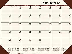 House of Doolittle 2017-2018 Academic Desk Pad Calendar, EcoTones, Cream, 18.5 x 13 Inches, August - July (HOD012541-18)
