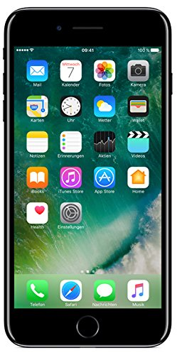 Apple iPhone 7 plus Smartphone (14 cm (5,5 Zoll), 128GB interner Speicher, iOS 10) jet schwarz