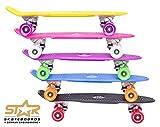 BIKESTAR Original Vintage Retro Cruiser Skateboard für Kinder und Erwachsene auch Anfänger ab ca. 6 - 8 Jahre