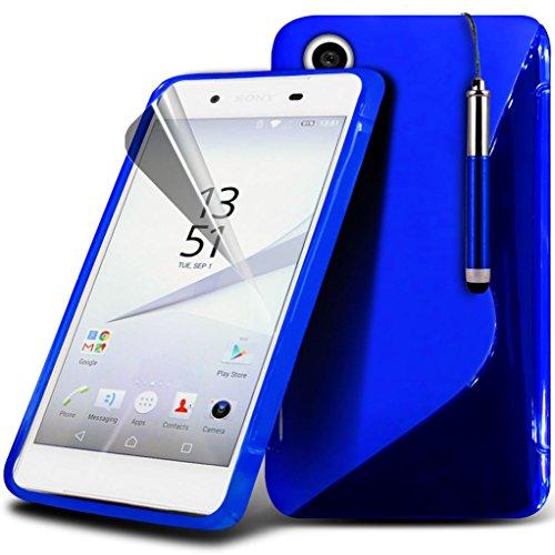 Fall für <b>      Sony Xperia Z5 hülle     </b>     Case Universal Car Phone Halter Halterung Armaturenbrett und Windschutzscheibe für iPhone y i -Tronixs Wave Gel + Pen ( Blue )