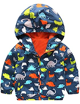 Covermason Niñas y Niños Lindo Dibujo Animal Encapuchado Abrigos Otoño Invierno Espesor Chaqueta para 0-5 Años