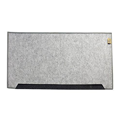 Eizur Tapis de souris Wool Felt Desk Mat Durable Gaming Large Pad Bureau Anti-dérapant Desk Carpet Pad Oversize Souris Paillasson Clavier Coussinet Tapis Taille 65*34*0.5cm--Gris Clair