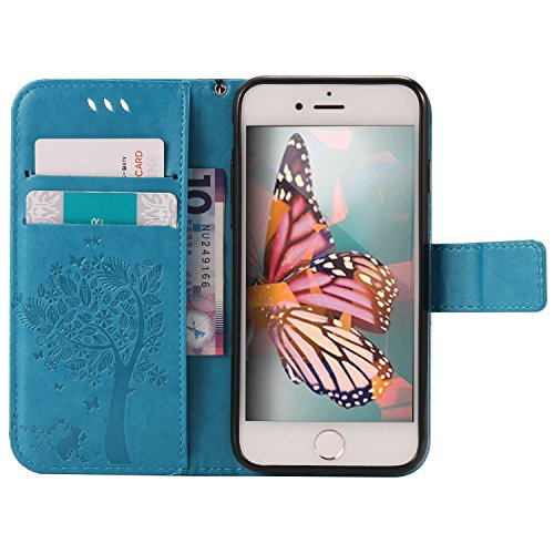 iPhone 8 Plus / 7 Plus 5.5 Pouce Coque,iPhone 8 Plus Coque Portefeuille PU Cuir Etui,iPhone 7 Plus Coque Silicone,iPhone 8 / 7 Plus Leather Case Wallet Flip Protective Cover Protector,iPhone 7 Plus Co Bling Wishing Tree 4