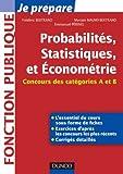 Probabilités, Statistiques et Econométrie - Concours des catégories A et ...
