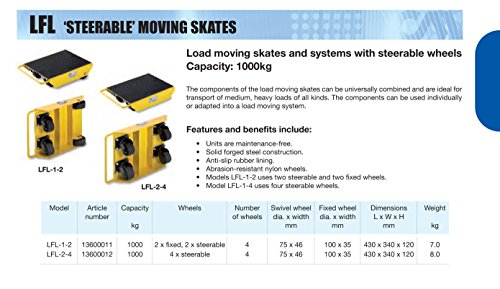 Yale AMZ1023405Moving Barrel skate, lfl-1–2, 1.0T