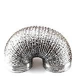 Aluminium Folie Schlauch Belüftungsöffnungen Auspuff Tube für Belüftung Fans, Küche Ventilator, integrierter Umweltfreundlich Stoves, Bad Heizung, silber, 15cm/6inch