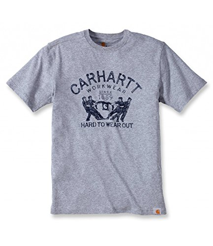 Carhartt T-Shirt Maddock Graphic Hard To Wear Out 102097 Heather Grey