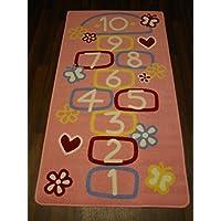 Non Slip Kids Hop Scotch Playmat/Rug 80cm x 120cm
