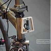 Dorado mate CNC Front Carrier bloque para Brompton Bicicleta Plegable ...