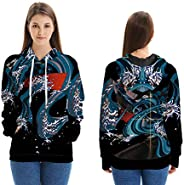 Women Long Sleeve Pullover Hoody, Demon Slayer: Kimetsu no Yaiba 3D Printed Hoody Spring and Autumn Pullover S