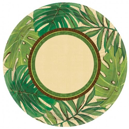 amscan-international-177-cm-paper-plates-island-palms-pack-of-8
