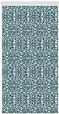 Arsvita Flausch-Vorhang (56x180cm) in der Farbe: Grün-Weiß, in Vielen Größen