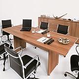 Tavolo Riunione Scrivania Ufficio 250x100 struttura pannello legno LM0899