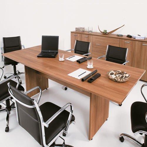Tavolo Riunione Scrivania Ufficio 250x100 struttura pannello legno 899 Fumu Net