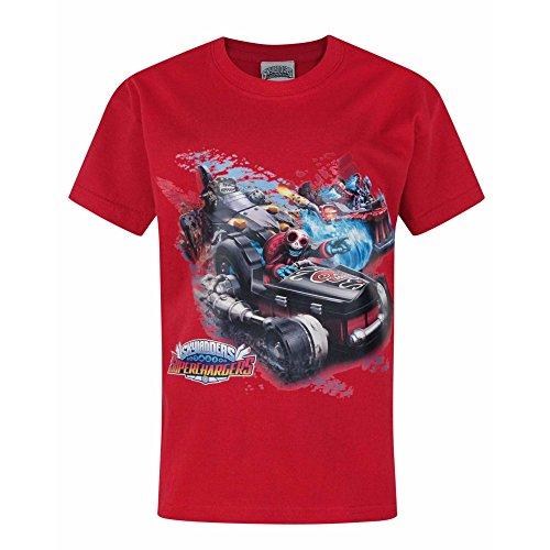Skylanders Jungen Superchargers Drive T-Shirt (Jahre (11/12)) (Tiefrot)