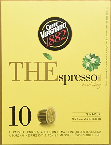 Caffè Vergnano Thespresso-Earl Grey Tee Kapseln, 3er Pack (3 x 25 g)