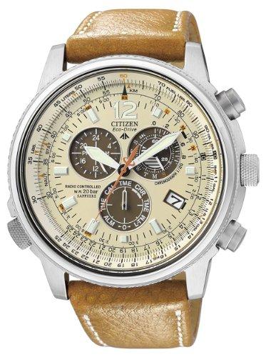 Citizen crono pilot radiocontrollato as4020-44b - orologio da polso uomo