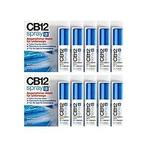 10x CB12 Spray 15ml PZN: 12414534 Mundspray für frischen Atem Alkoholfrei