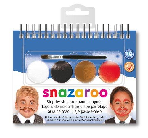 Snazaroo 2-stufigen Schnurrbart Face Painting Kit Booklet