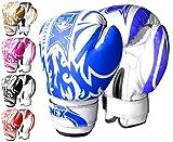Onex Guantoni da Boxe per Bambini Punzonatura dei Guanti Lotta di MMA Guanti Kickboxing Allenamento Arti Marziali Boxing Glove 6oz ... (Blue)