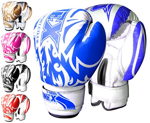 Onex Guantoni da Boxe per Bambini Punzonatura dei Guanti Lotta di MMA Guanti Kickboxing Allenamento Arti Marziali Boxing Glove 6oz