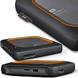 WD My Passport Wireless SSD - tragbare 2TB externe Festplatte. SD-Karten-Backup auf Knopfdruck, WLAN, 4K Streaming, interg. Akku und SD Kartenleser
