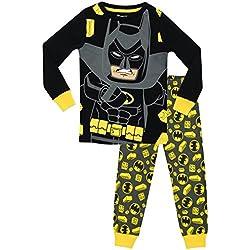 Lego Batman - Pijama para Niños - Lego Batman - Ajuste Ceñido - 11 - 12 Años