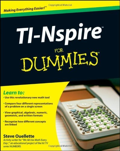 TI-Nspire For Dummies by Steve Ouellette (2009-01-27)