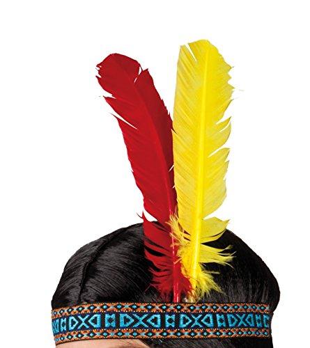 Boland 44120 - Stirnband Indianer, Einheitsgröße, (Indianer Kostüme Kopfschmuck)