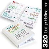 Moritz & Moritz Haftnotizen lustig für Studenten - Klebezettel mit schönen Sprüchen im coolen Design als Büro Gadgets - Funny Sticky Notes für die Linke sowie Rechte Buchseite - 320 Blatt 20x50mm
