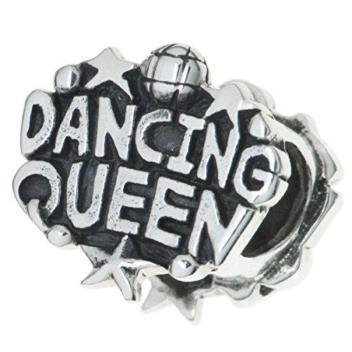 Charm-Perle für europäische Charm-Armbänder aus 925er Sterlingsilber, Motiv: Tanzende Königin