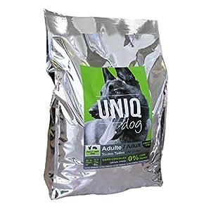 UNIQ DOG Croquettes Ultra Premium Chien Adulte - sans céréales - poulet, dinde, porc - 12 kg
