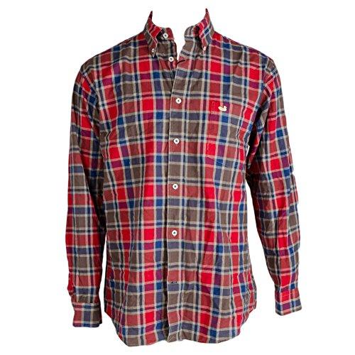 Southern Marsh Herren Hemd, gewaschen, kariert, Ocoee - Schwarz - Mittel -